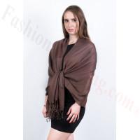 Silky Soft Solid Pashmina Scarf  Dark Chocolate Dozen (12 Pcs)