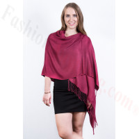 Ruby Solid Pashmina Scarf