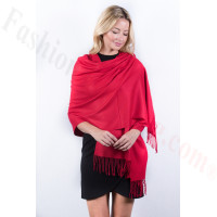 Red Premium Thick Pashmina