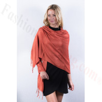 Persimmon Solid Pashmina Label Scarf