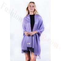 Lavender Solid Pashmina Label Scarf