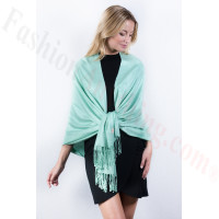 Tiffany Green Solid Pashmina Label Scarf