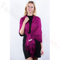 Razz Berry Solid Pashmina Label Scarf