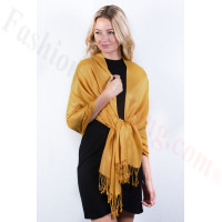 Silky Soft Solid Pashmina Scarf Honey Gold NEW