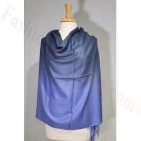 Ombre Solid Pashmina Navy