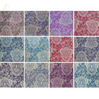 Metallic Paisley Flower Pashmina 1 DZ, Asst. Color