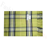 Woven Cashmere Feel Classic Scarf Lime