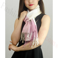 Woven Cashmere Feel Checker Scarf Z09 Pink