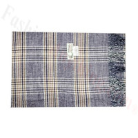 Woven Cashmere Feel Plaid Scarf Z42 Purple