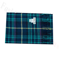 Woven Cashmere Feel Plaid Scarf Z44 Navy