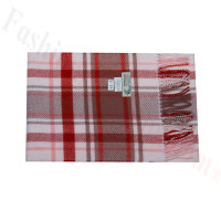 Woven Cashmere Feel Plaid Scarf Z44 Pink