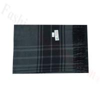 Woven Cashmere Feel Plaid Scarf Z44 Grey/Black