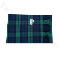 Woven Cashmere Feel Plaid Scarf Z44 Blue/Green