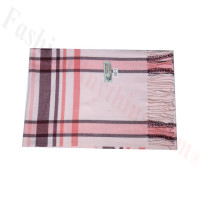 Woven Cashmere Feel Plaid Scarf Z45 Pink