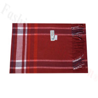 Woven Cashmere Feel Plaid Scarf Z45 Red