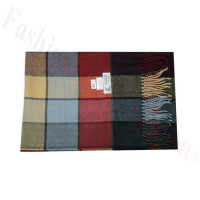 Woven Cashmere Feel Plaid Scarf Z46 Multi Color