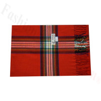 Woven Cashmere Feel Plaid Scarf Z47 Red