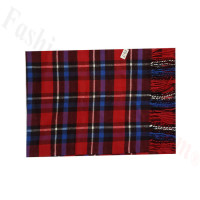 Woven Cashmere Feel Plaid Scarf Z49 Blue/Red