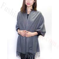 Grey/White Premium Thick Pashmina
