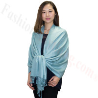 Silky Soft Solid Pashmina Scarf Powder Blue
