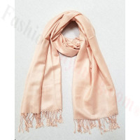 Silky Soft Solid Pashmina Scarf Pink Plush