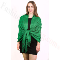 Silky Soft Solid Pashmina Scarf Forest Green