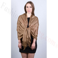 Brown Pashmina Scarf Dozen (12 Pcs) NEW