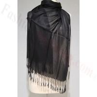 Metallic Solid Sheer Scarf Black
