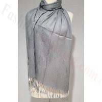 Metallic Solid Sheer Scarf Grey