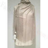 Metallic Solid Sheer Scarf Taupe
