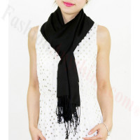 Lightweight Pashmina Wrap Black