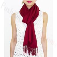 Lightweight Pashmina Wrap Dark Red