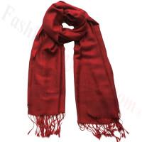 Paisley Jacquard Pashmina Dark Red