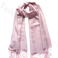 Paisley Jacquard Pashmina Light Pink