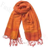 Paisley Jacquard Pashmina Orange