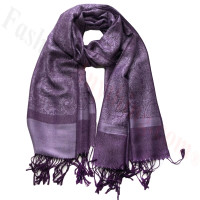 Paisley Jacquard Pashmina Medium Purple