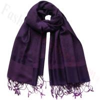 Paisley Jacquard Pashmina Dark Purple