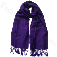 Paisley Jacquard Pashmina Ink Purple