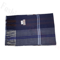 Cashmere Feel Pattern Scarf NY573 Navy