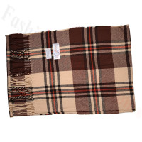 Cashmere Feel Pattern Scarf SF-028 Brown