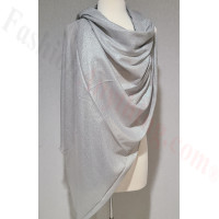 Solid Shimmer Pashmina Silver