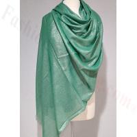 Solid Shimmer Pashmina Green