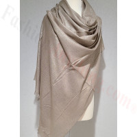 Solid Shimmer Pashmina Light Brown