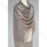 Solid Shimmer Pashmina Grey