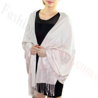 Silky Soft Solid Pashmina Scarf Pearl Pink