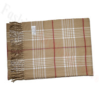 Cashmere Feel Pattern Scarf T291 Tan