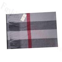 Cashmere Feel Pattern Scarf W88-5 Grey