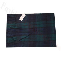 Cashmere Feel Pattern Scarf W88-6 Navy/Green