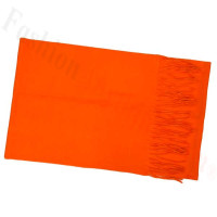 Solid Cashmere Feel Scarf Orange