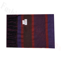 Cashmere Feel Pattern Scarf Wine